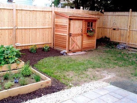 cedar lean  shed fits nicely   fence
