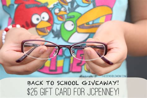 Jcpenney Gift Card Giveaway - new back to school glasses and a jcpenney gift card giveaway the sensible mom