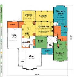 house plans 2 master suites single story house plans with two master suites design basics