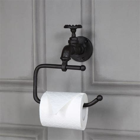 Industrial Bathroom Accessories Rustic Metal Toilet Roll Tissue Holder Retro Industrial Bathroom Accessories Ebay