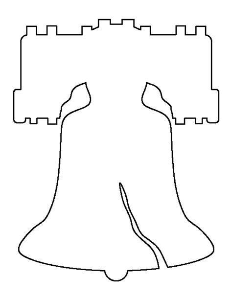 Liberty Bell Pattern Use The Printable Outline For Crafts Creating Stencils Scrapbooking And Bell Template