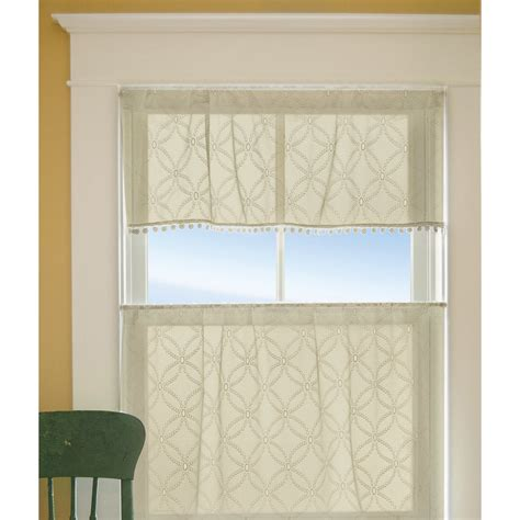 Kitchen Valances And Curtains Alcott Hill Massasoit Kitchen Valance Reviews Wayfair