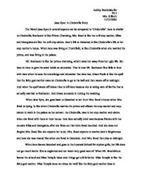 Eyre Essay Topics by Eyre A Cinderella Story The Novel Eyre In Several Aspects Can Be Compared To