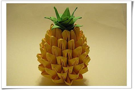3d Origami Pineapple - origami pineapple modular origami step by step origami
