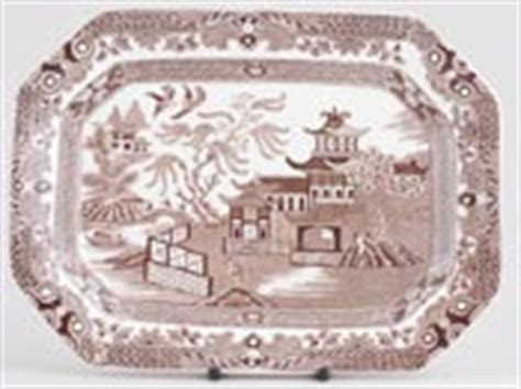 brown willow pattern burleigh willow brown china archive of sold items
