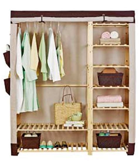 Canvas And Wood Wardrobe by Fabric Wooden Frame Wardrobe Mink And Review