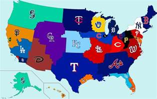 Baseball Usa Map by Working On Photoshop Skills Made A Geographic Mlb