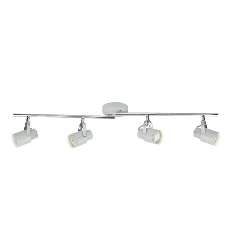 Spotlight Ceiling Bar by Cool Grey And Polished Chrome 4 Light Ceiling Spotlight Bar