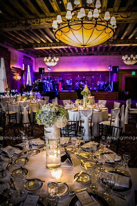 Beautiful centerpieces and reception decor at the Detroit