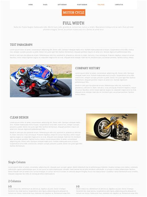 motosport templates motorsport website template motorcycle website