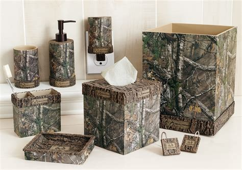 Camouflage Bathroom Set by Realtree Xtra Camo Bath Accessories