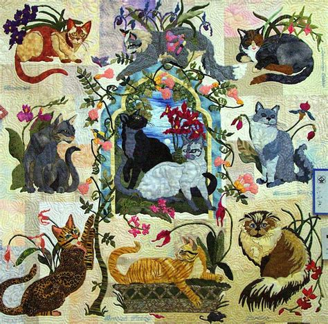 Blue Cats Patchwork - my cats garden bom maggie walker 9 applique quilt patterns