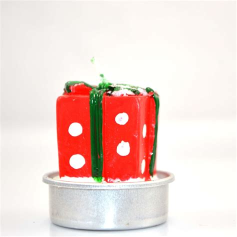 christmas decorative novelty candles natural 4 candle set