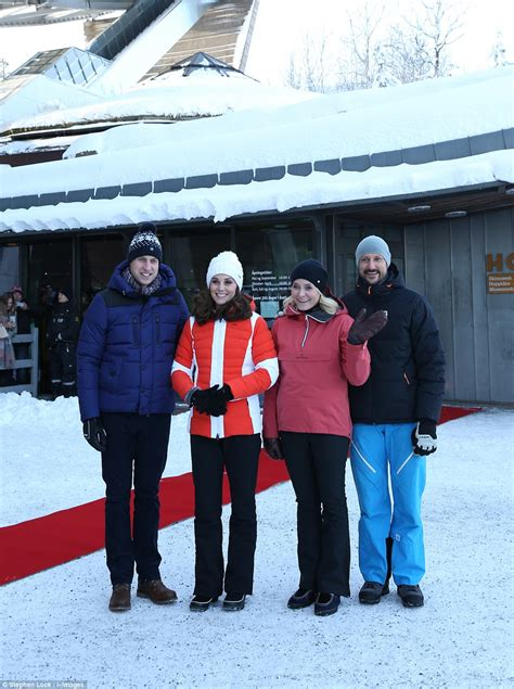Wrapping Up On A Friday Afternoon by Kate And William Skiers At Holmenkollen Daily Mail