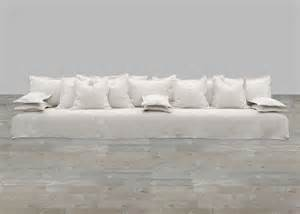 Casual Dining Room Sets huge slipcover sofa in ivory linen