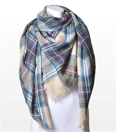 sparkleshinylove plaid blanket scarf