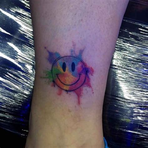 nirvana smiley face tattoo best 25 smiley tattoos ideas on smile