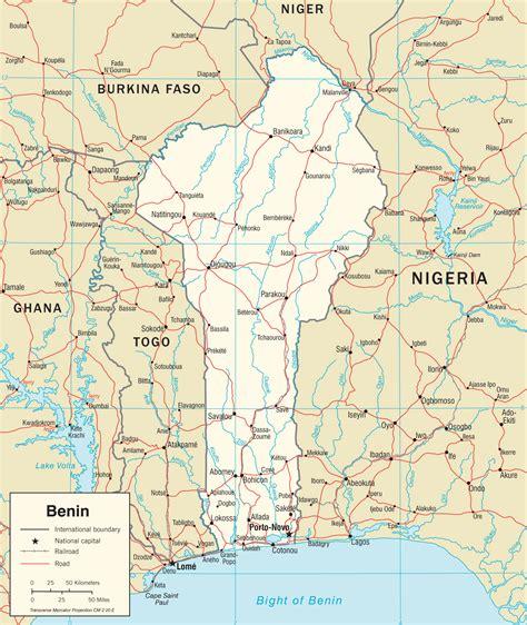 Carte De by Cartes Du Benin Carte Monde Org