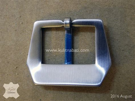 Pin Buckle Jam Tangan Silver Stainless Steel Brushed Finishing buckle jam str 028 kulitnabati bahan kulit nabati