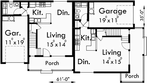 Corner Lot Duplex Plans by Corner Lot Duplex House Plans 3 Bedroom Duplex House