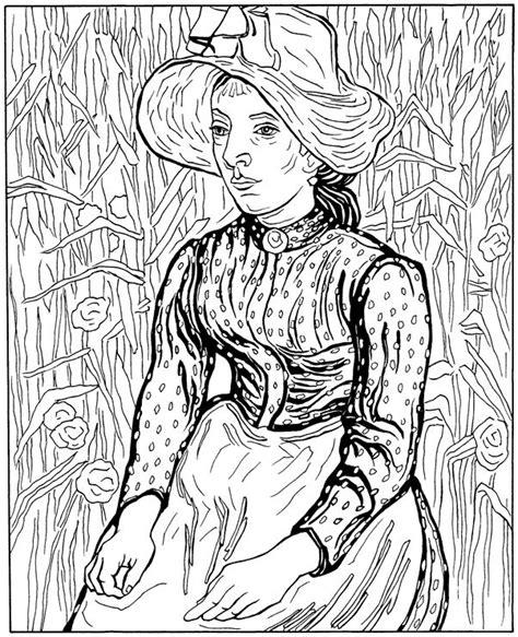 coloring book vincent van sunflowers vangogh coloring pages