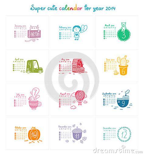 doodle calendar management calendar 2014 royalty free stock images image 32364909