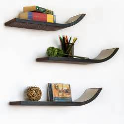 Glass Bookshelves Wall Mount by Decorative Wall Shelves Design Ideas Pictures To Pin On