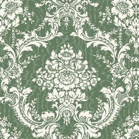 wallpaper green damask the wallpaper company 56 sq ft green mid scale damask on