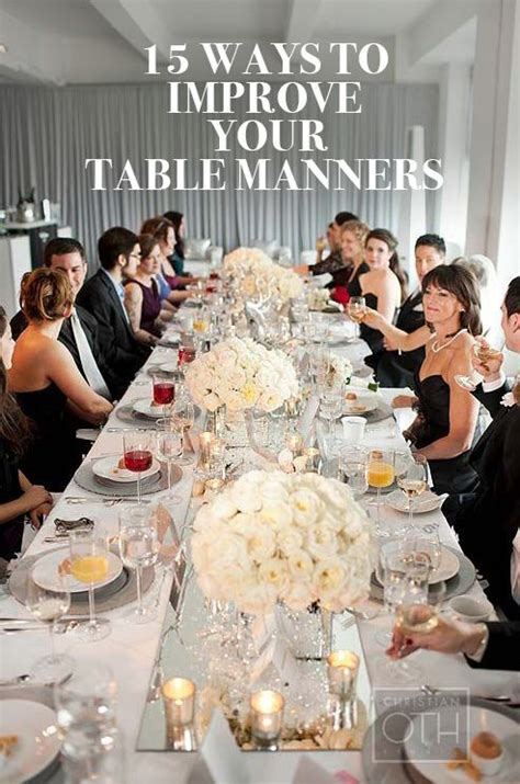 Ways To Improve Your Table Manners the 25 best manners ideas on
