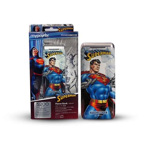 Powerbank Probox 7800 Mah Sanyo Cell Edisi Dc Comic Justice League jual powerbank mypower probox 5200mah edisi dc superman