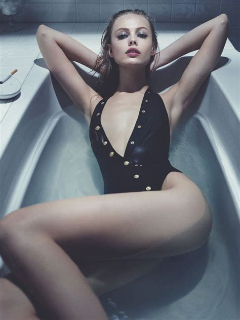sexy in bathtub frida gustavsson models swimwear looks for interview by robbie fimmano