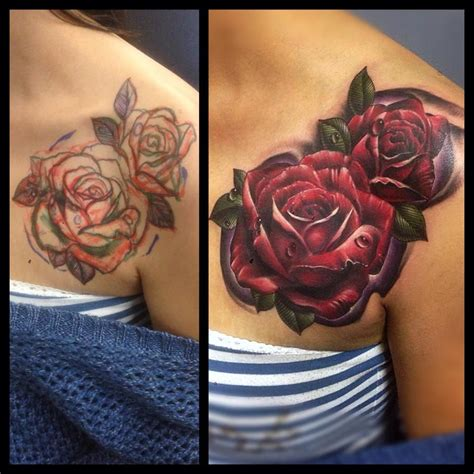four roses tattoo by stewart of four aces in aldinga