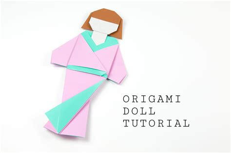 How To Make A Paper Doll Step By Step - japanese origami doll tutorial