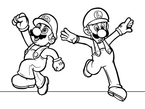 Coloring Pages Of Mario And Luigi luigi and mario coloring pages