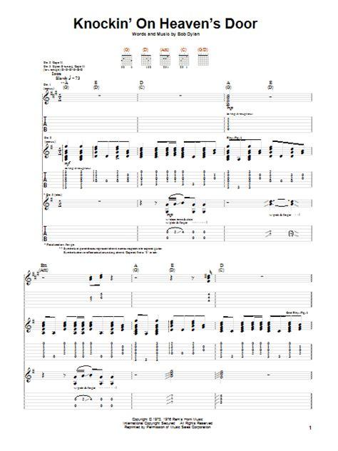 Knocking On Heavens Door Tabs by Knockin On Heaven S Door Guitar Tab By Eric Clapton Guitar Tab 74338