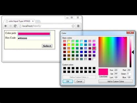 input type color form input type color html5