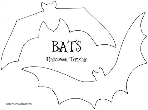 bat template printable bats template