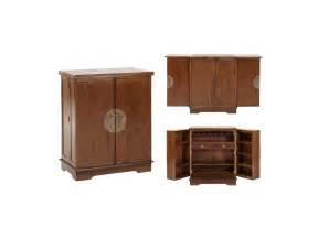 meuble de bar talang ii 2 portes teck massif