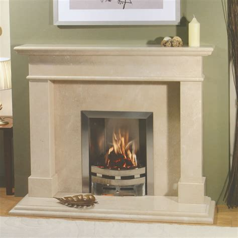 limestone fireplace surround for unique room