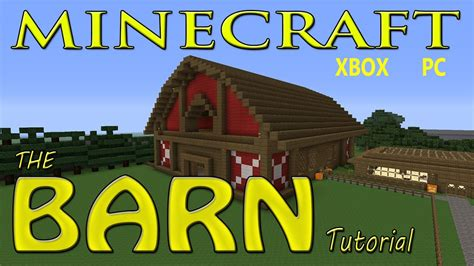 Horse Barn Blueprints by Minecraft Easy Barn Tutorial With Schematics Youtube