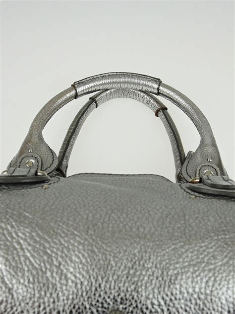 Still The Paddingtons In Silver Metallic by Metallic Silver Leather Medium Paddington Satchel