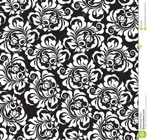 black pattern rose vector rose pattern stock vector image of silhouette