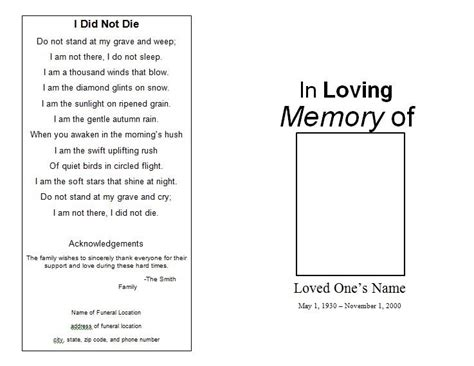 The Funeral Memorial Program Blog Free Funeral Program Template Download For Microsoft Word Free Funeral Program Template For Word 2