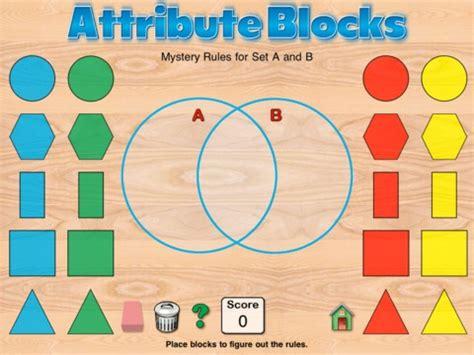 kindergarten pattern apps hands on math attribute blocks app logic pinterest