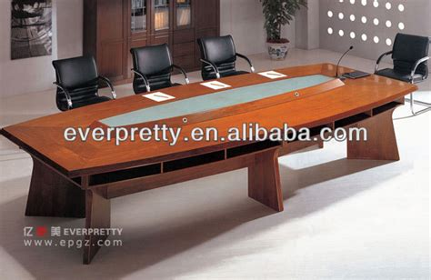 Luxury Power Outlets 10 seater luxury wood veneer center conference room table