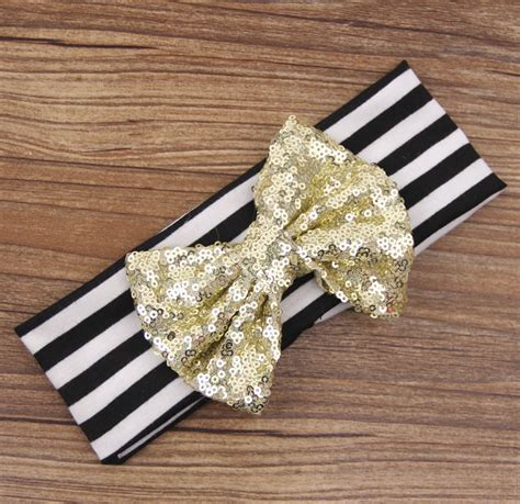 newborn baby headband bows chiffon and sequin 2015 sale new big sequin bow headbands for
