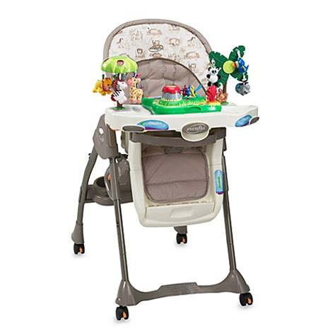 evenflo majestic easy fold high chair evenflo 174 majestic highchair jungle buybuy baby