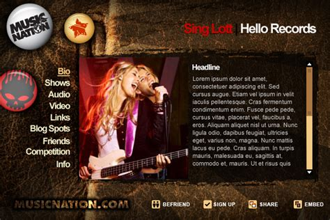 band press kit template freeware