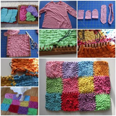 how to make a rug diy rainbow color patch rug from sweatshirts