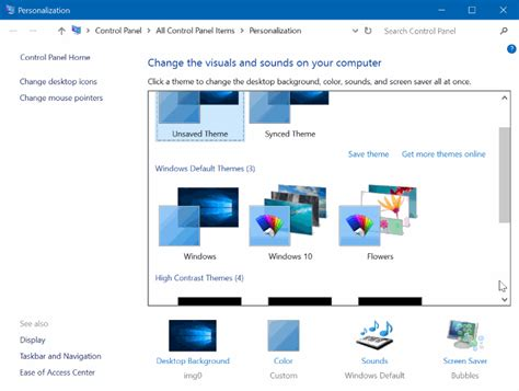 changing themes on windows 10 how to change the default theme in windows 10